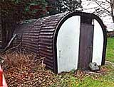 Workers' Hut constructed from tunnel 'spare ribs'