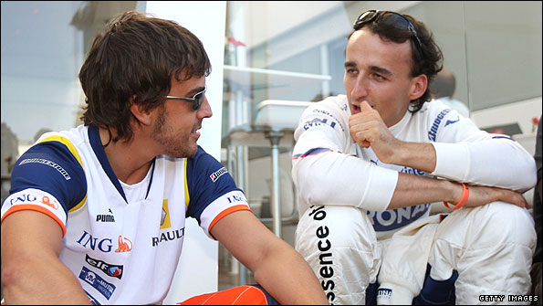 Photo of Fernando Alonso & his friend  Kubica