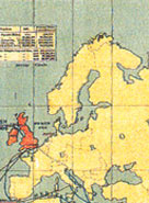 Europe, a detail from a 1886 map of the British Empire