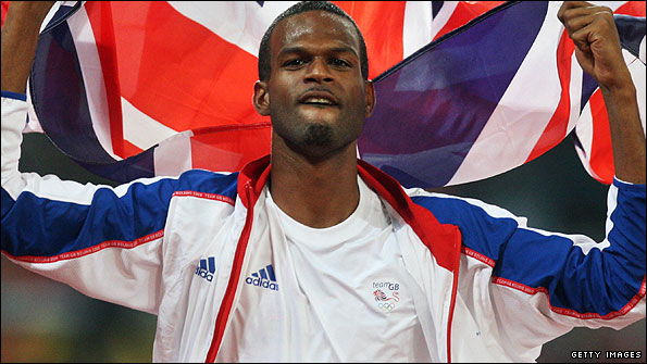 Germaine Mason with his union jack flag