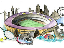 An illustration of the London 2012 Olympic Games by Laura Morris
