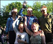 Winners of the World Nettle Eating Championship