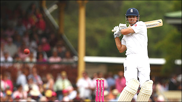 Alastair Cook kept up his fine batting form this series in the Sydney Test