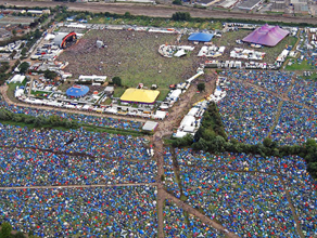 Reading Festival from above