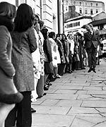 Queuing for auditions