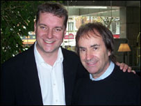 BBC Wiltshire's Graham Rogers and Chris De Burgh