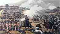 A painting of the Battle of Waterloo by M Dubourg