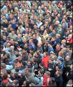 The crowd at the Atherstone Ball Game