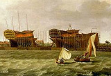 Painting of the Royal Navy dating from the 1780s