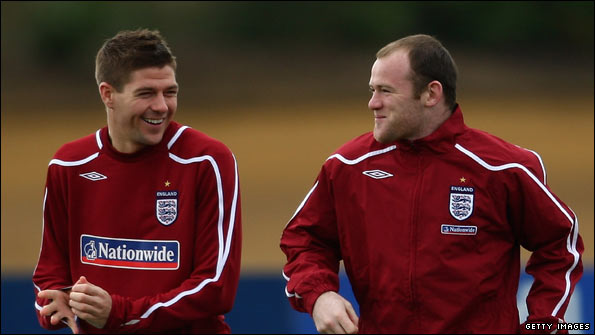 Gerrard (left) and Rooney showed some of their best form against Slovakia