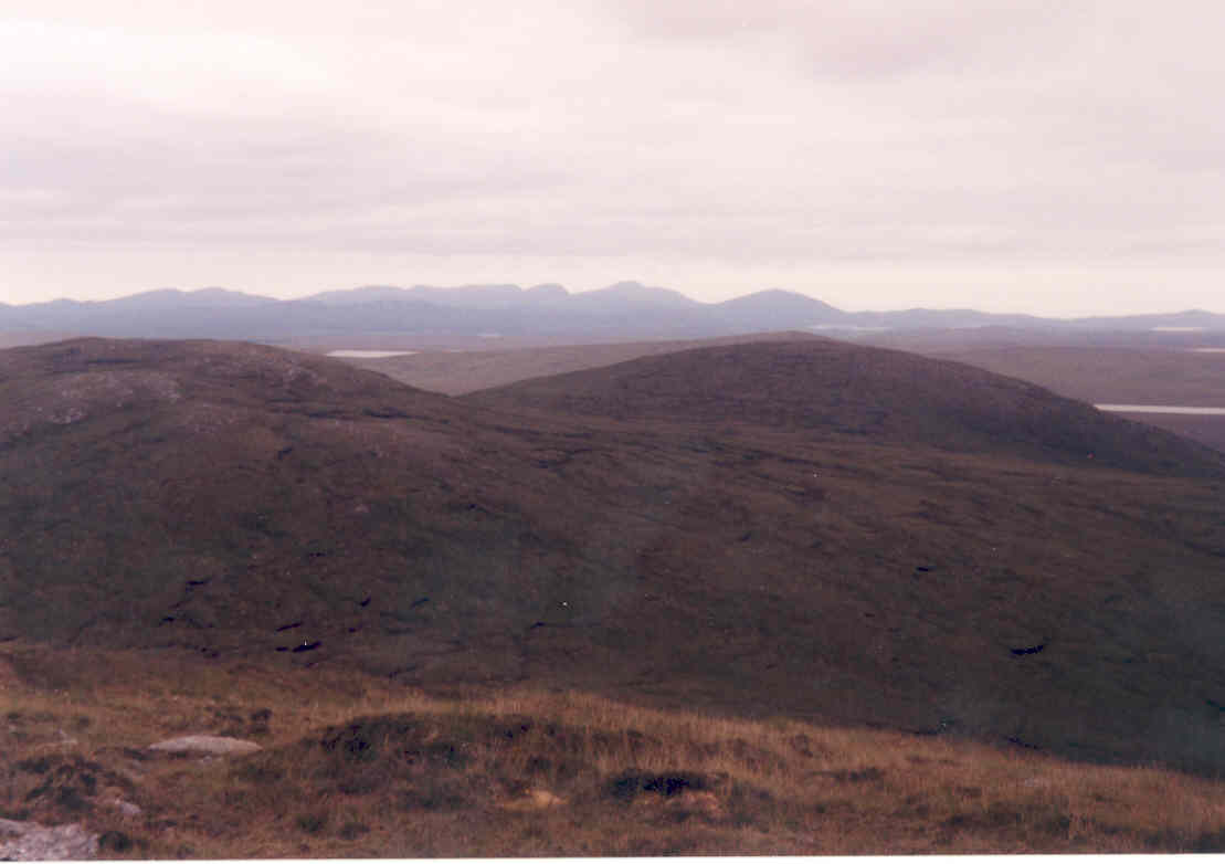 View from the summit of the Barvas Hills, looking west towards the district of Uig
