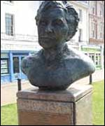 The Agatha Christie bust in Torquay