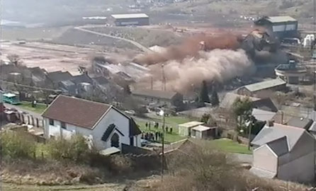 The Pickler demolition (screen grab taken from a video by the Ebbw Vale Institute)