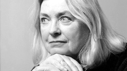 Black and white image of Gillian Clarke, courtesy of Poetry Live