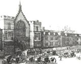 Image of a line drawing of the New Palace Yard at Westminister
