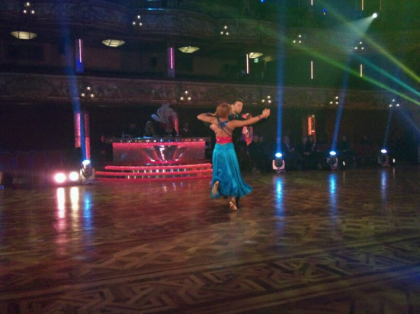Harry and Aliona Quickstep it round the Blackpool Tower Ballroom