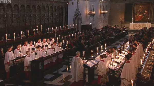 The Choir Of Kings College Chapel Cambridge With Conductor Stephen Cleobury