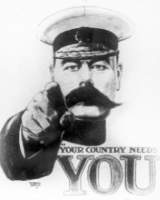 Lord Kitchener's war recruitment poster