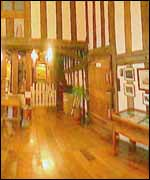The arms room in the Lord Leycester Hospital