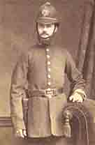 Photograph showing a Victorian policeman in period uniform