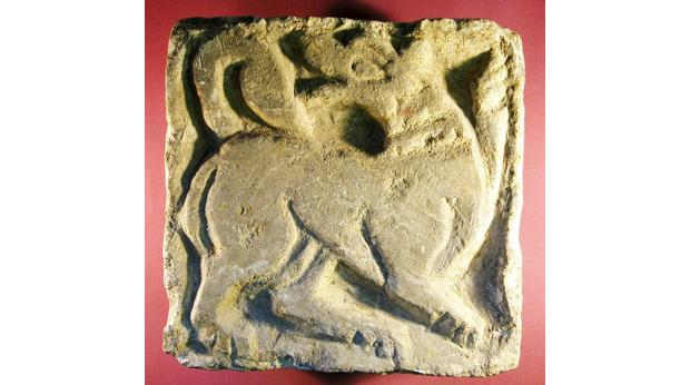Norman period carving- copyright Canterbury City Museums