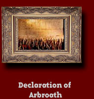 declaration of arbroath After the battle of bannockburn was fought, although scotland was once again a free country, the english king edward ii stubbornly refused to acknowledge that fact.