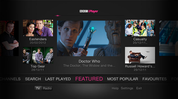 generic V3 BBC iPlayer home page