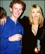 Picture: Chris Rankin with JK Rowling