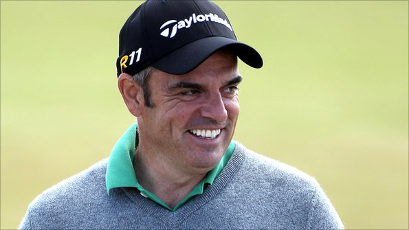 Paul McGinley, grinning