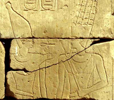 Psametik III, on a relief in a chapel in the temple of Karnak