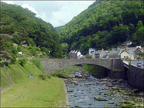 The bridge at Lynmouth