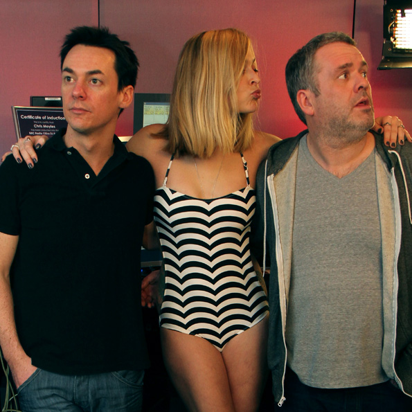 David Vitty, Fearne Cotton and Chris Moyles