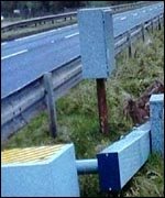 Vandalised speed camera