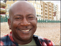Kweku Mainoo on Brighton beach
