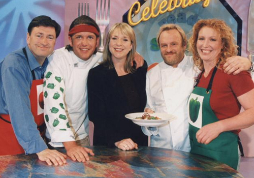 James Martin and Antony Worrall Thompson with Fern Britton and guests.