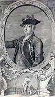 Engraving showing the Duke of Cumberland