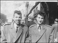 John Lennon and Nigel Walley in 1958