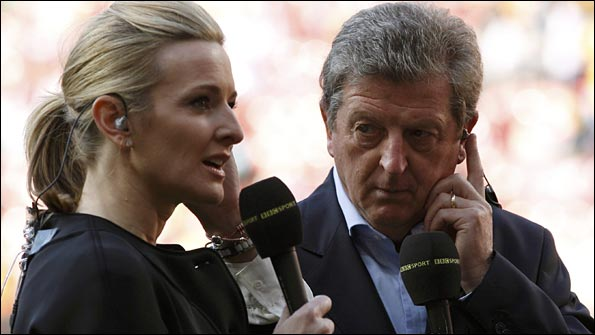 Roy Hodgson, who worked as a BBC pundit during the World Cup in South Africa, alongside Gabby Logan
