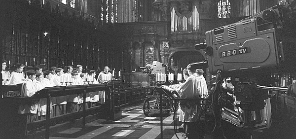Picture of An early TV recording of Carols from King's (1963)