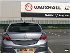 Vauxhall car plant in Luton