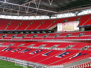bbc london in pictures new wembley 39 s first game. Black Bedroom Furniture Sets. Home Design Ideas