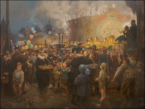 'The Goose Fair' is presently on loan to the Nottingham Castle gallery from the private collection of Sir Harry Djanogly © The Artists Estate
