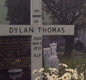 Dylan Thomas's grave in Laugharne, Wales.