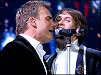 Gary Barlow and Mark Owen (pic: Shirlaine Forrest)