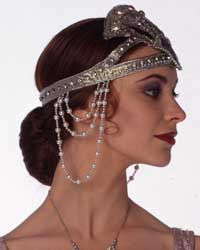 woman wearing a nineteen twenties headress