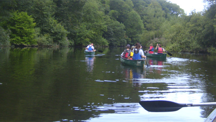 Canoeing on the river. Image by Rachael Garside
