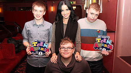 Katy Perry with the BBC Radio 1 Teen Awards winners