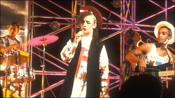 Culture Club on Top of the Pops in 1982