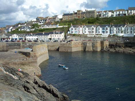 Porthleven harbour by Vyv Toms
