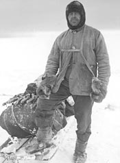 Captain Robert Falcon Scott in his sledging gear